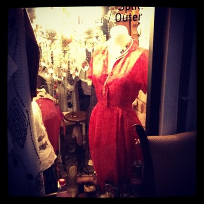 Vintage Red Silk Dress by Charlie Grosso