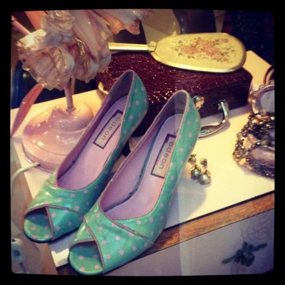 Vintage Mint Green Heels by Charlie Grosso