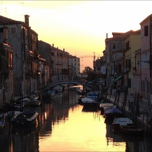 Venice Italy, Sunset on the canals, by Charlie Grosso