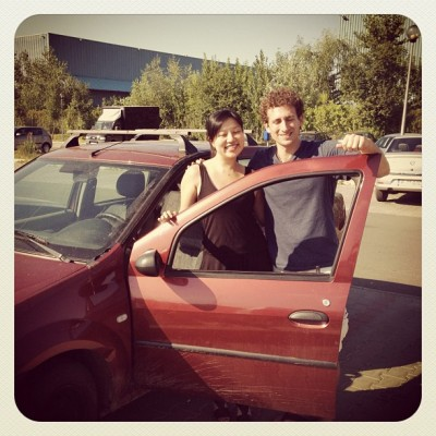 Charlie Grosso and Derek Earl Barron with a Dacia Logan for SM Stowaway, The Mongol Rally