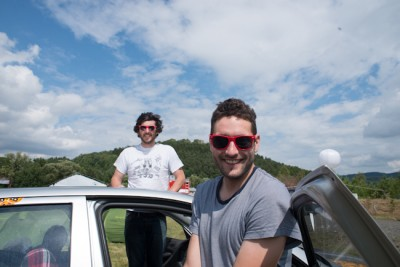 Matthew and Gavin, The Mongol Rally, by Charlie Grosso