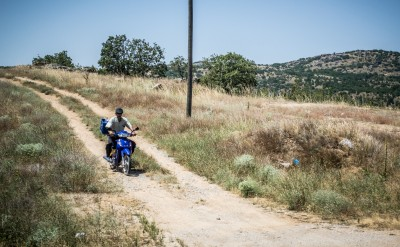 Man on Scooter, Eastern Turkey, by Charlie Grosso