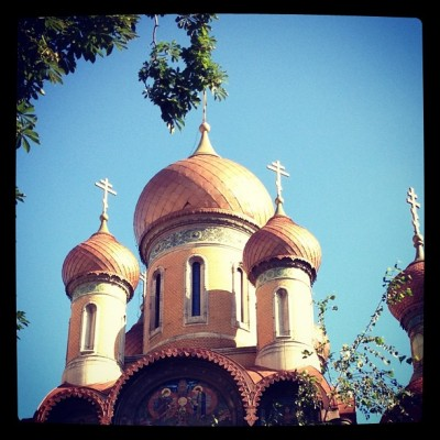 Russian Orthodox Church in the center of Bucharest, Romania, by Charlie Grosso
