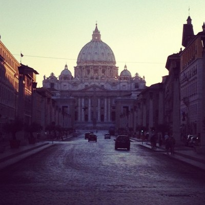 St Peter at Dusk, Rome, Italy, by Charlie Grosso