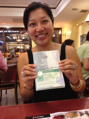 Turkmenistan Transit Visa in hand!!! by Charlie Grosso