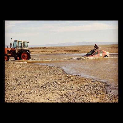 River Crossing, Mongol Rally, Charlie Grosso