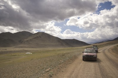 Convoy through Mongolia, by Charlie Grosso