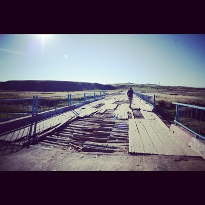 Bridge Crossing, Mongol Rally, Charlie Grosso