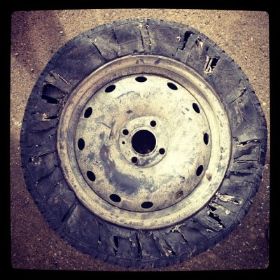 Shredded Tire, Mongol Rally, Charlie Grosso