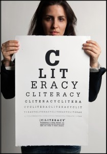 CLITERACY Eye Chart by Sophia Wallace