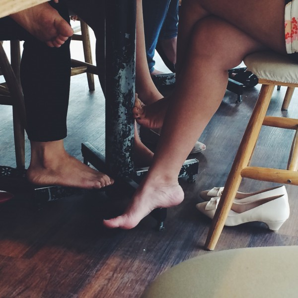 Spying on young girls bare feet pics 539